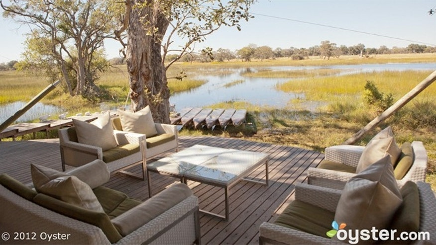 "At &Beyond Xaranna Okavango Delta Camp in Botswana you stay in luxury ""tents"", can sit in soaking tubs and sleep on four-poster beds."