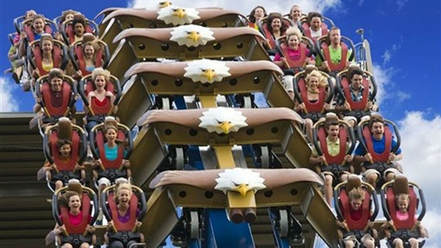 The Wild Eagle at Dollywood is a new 210-foot tall coaster that opened in March at the theme park in Pigeon Forge, Tenn.
