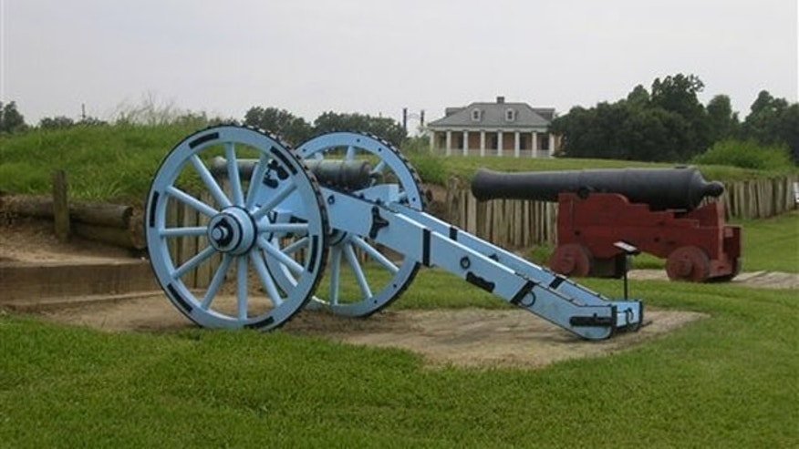 The ramparts of the Chalmette Battlefield at Jean Lafitte National Historic Park and Preserve, the site of the 1815 Battle of New Orleans, where Andrew Jackson led the final U.S. victory in the War of 1812.
