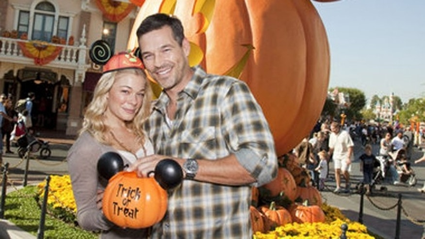 Oct. 8, 2010: Leann Rimes and Eddie Cibrian celebrating 'Halloween Time' Friday at Disneyland in Anaheim, Calif.