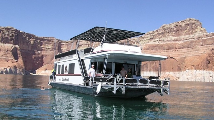 Our houseboat on Lake Powell.
