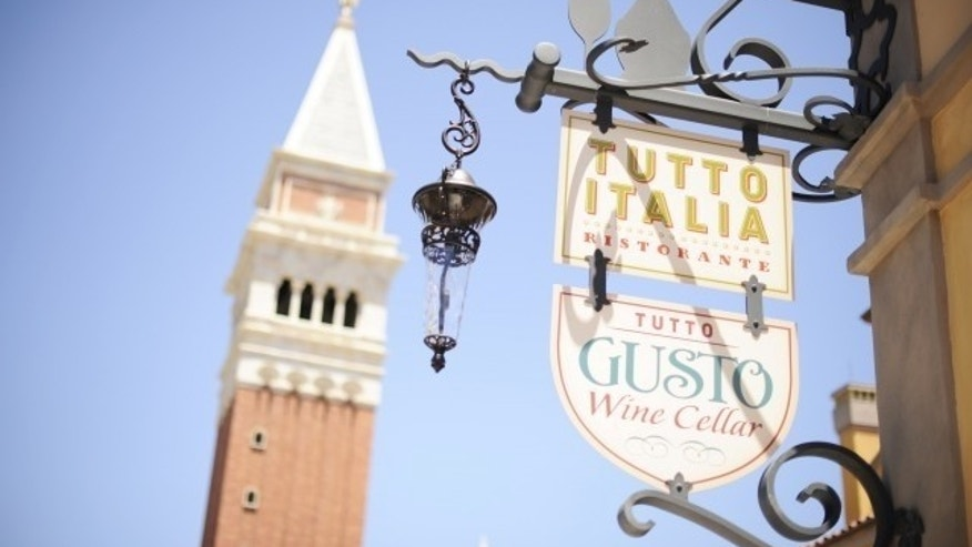 Italy's 83 foot belltower is a replica of the original campanile in St. Mark's Square, and gondolas alongside the World Showcase lagoon capture the charm of Venice.