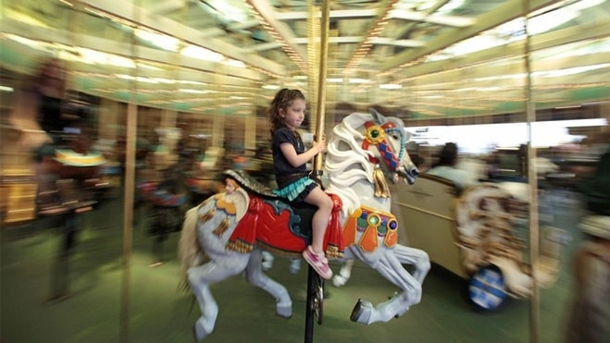 At the Santa Cruz Beach Boardwalk in Santa Cruz, Calif., you can take a ride on a carousel dated back to 1911 for just $3.00 a spin.