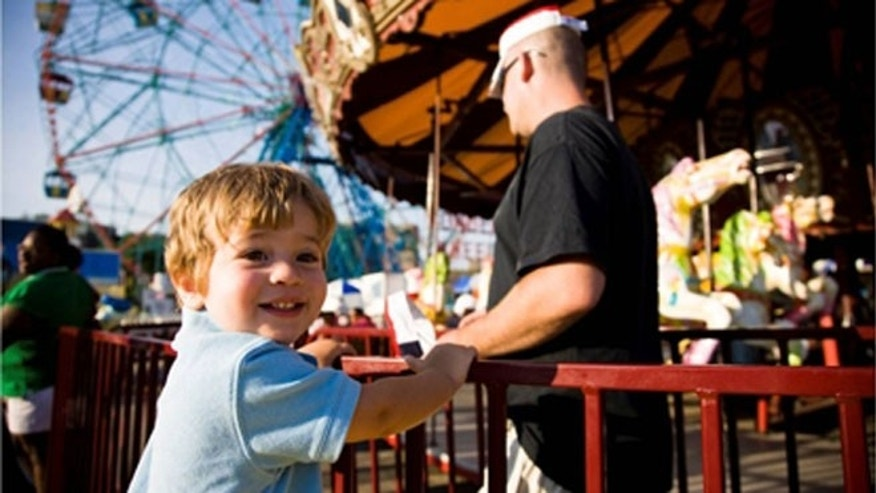 Coney Island has nearly three miles of sandy beaches, playgrounds and and world class amusement rides.