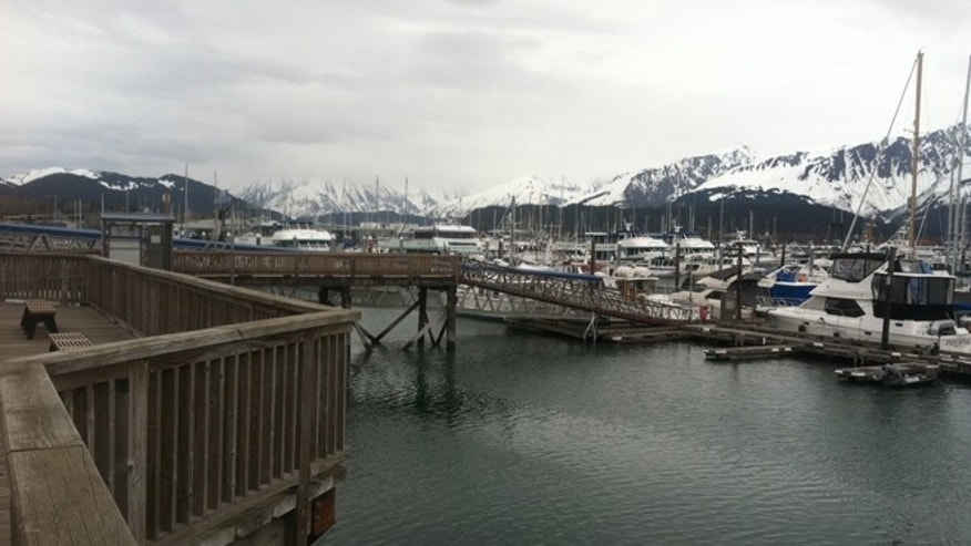 Boats docked in Seward, AK.