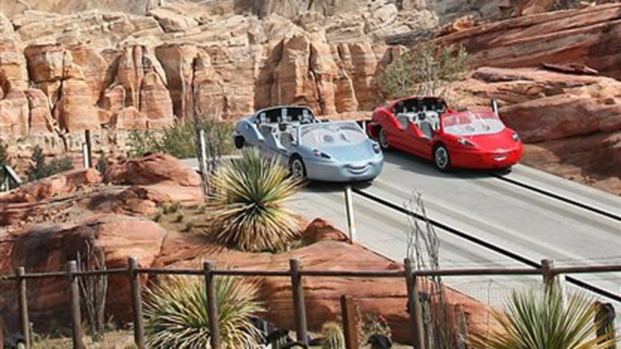 Radiator Springs Racers at Cars Land, a new Disney attraction