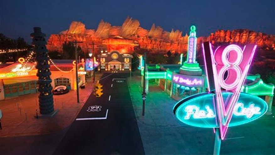 Disneyland's new 12-acre Cars Land, a replica of Radiator Springs