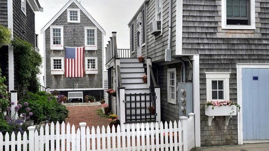Quaint Cape Cod houses in Provincetown, Mass.