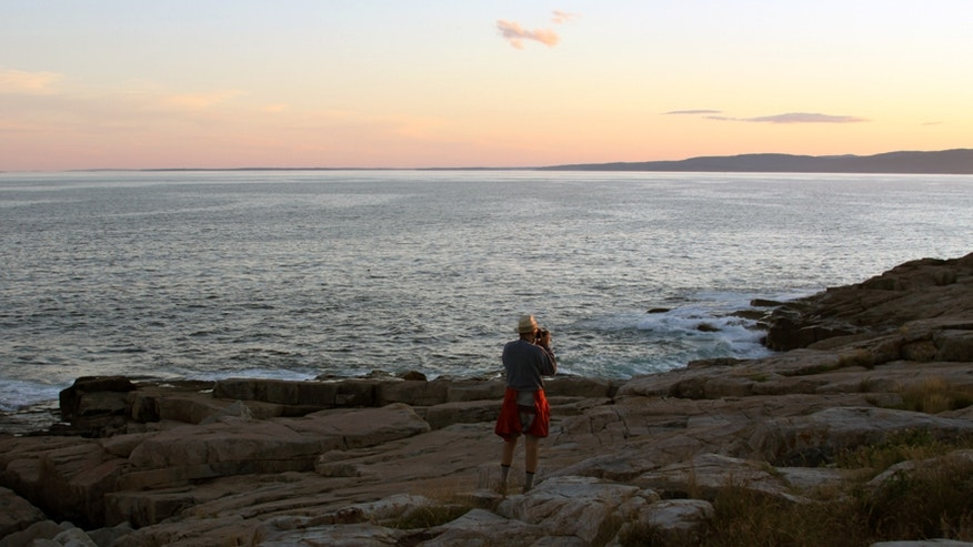 The sunset at the Schoodic Peninsula Shoreline at Acadia National Park. (National Park Service)