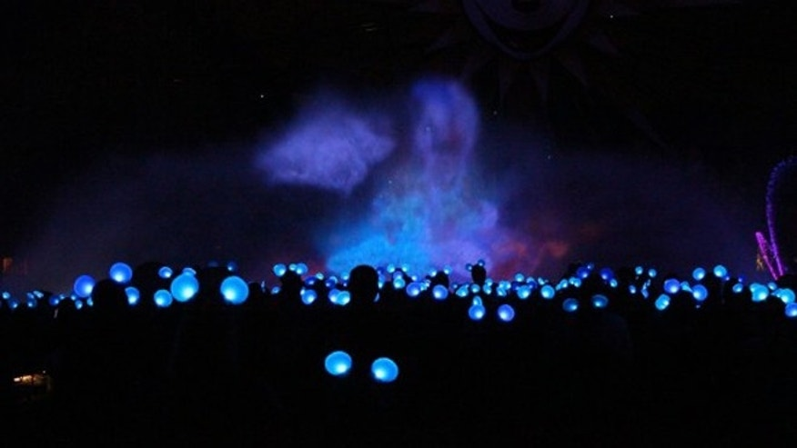 The ears aglow at a recent World of Color show.
