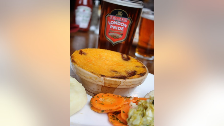 A traditional British pie, made by the Blackbird (Kacy Capobres)