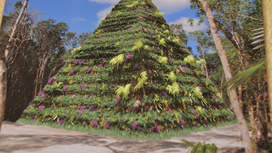 The Pyramid of Positive Thinking, a structure that honors the Mayan Calendar. (Evelyn Kanter)