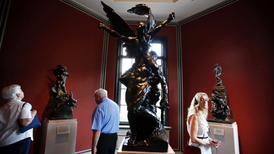July 12, 2012:  Guests view the newly restored interior of the Rodin Museum in Philadelphia.