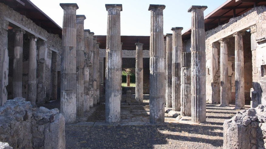Ancient Roman pillars can be seen throughout Pompeii. (Jacquelyn Debellis)