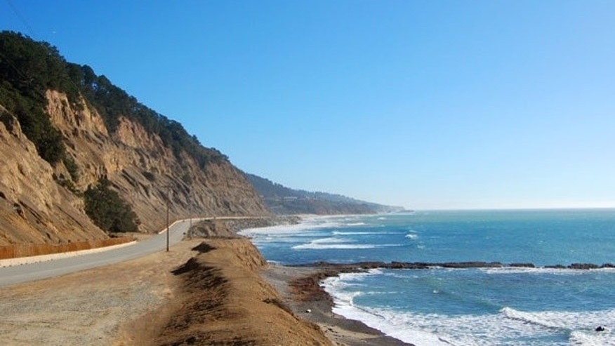 California's Pacific Highway 1 runs 135 miles between San Luis Obispo and Monterey.