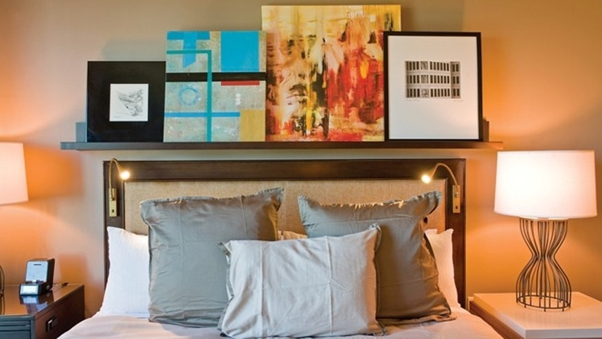 Omni Dallas Hotel is one of the hotels that features unusual art in the rooms and gives guests the option of purchasing the work.