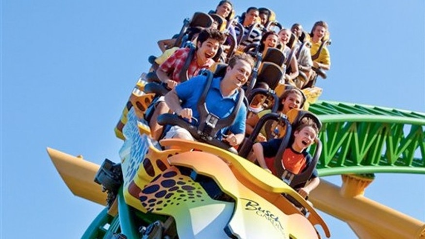 Riders at Busch Gardens' Cheetah Hunt roller coaster--one of a number of tourist attractions in Tampa, site of the Republican National Convention, which begins Aug. 27.