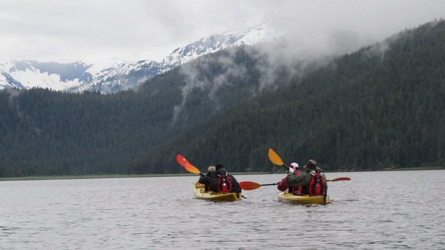 Kayaking off the Wilderness Discoverer — a daily activity