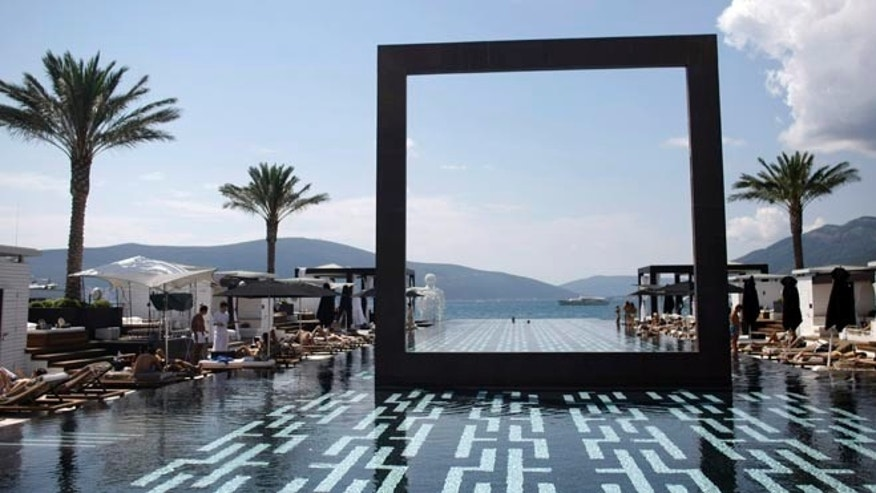 Aug. 12, 2012: A view of the infinity pool at the Porto Montenegro resort.