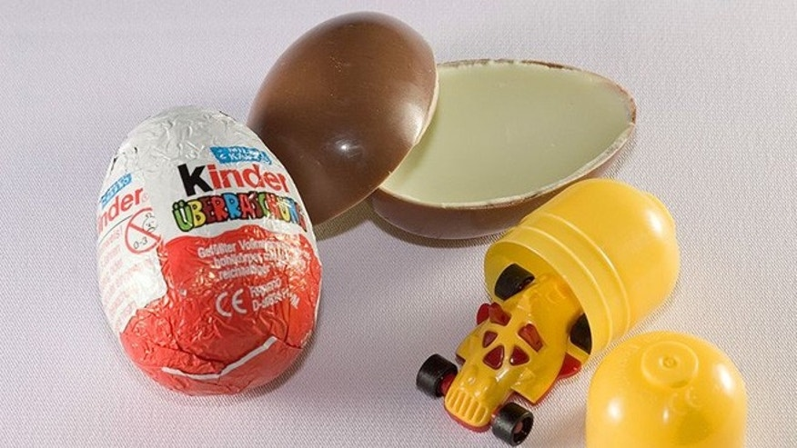 During fiscal year 2011, the U.S. Customs and Border Protection agency says it seized more than 60,000 Kinder Eggs because the small plastic toys inside the chocolate shell could pose a choking hazard for young children.