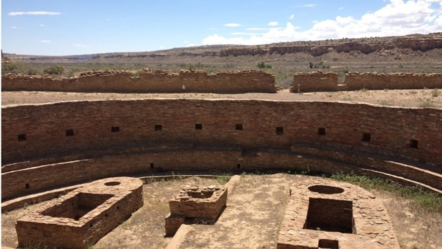 The Great Kiva and Casa Rinconada, Chaco Canyon, in northwestern New Mexico.