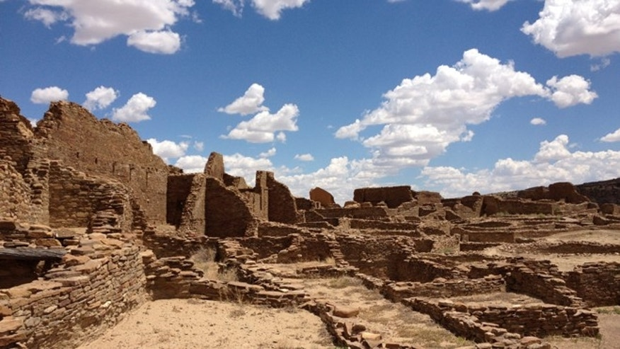 Pueblo Bonito, Chaco Canyon, in northwestern New Mexico.