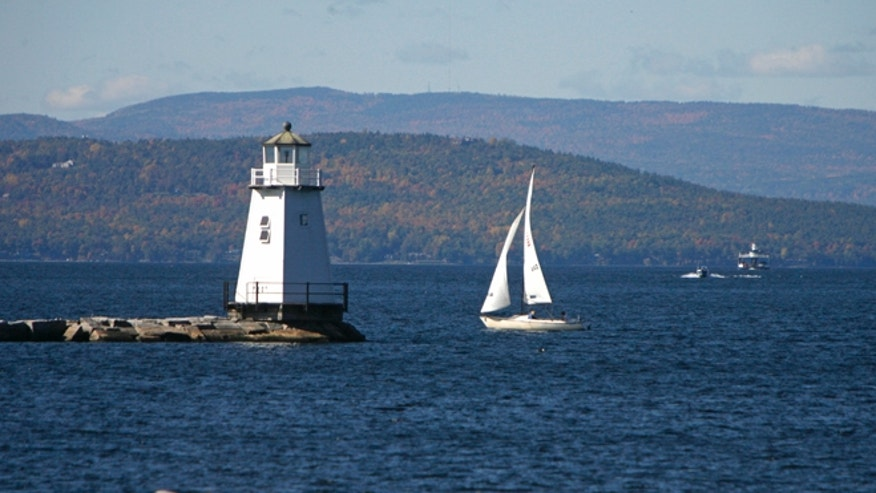 Oct. 10, 2008: Boats travel across the waters of Lake Champlain in Burlington, Vt.