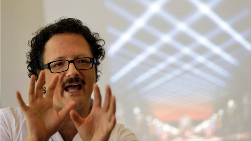 "Aug. 23, 2012: Artist Rafael Lozano-Hemmer discusses his new project titled ""Open Air."""