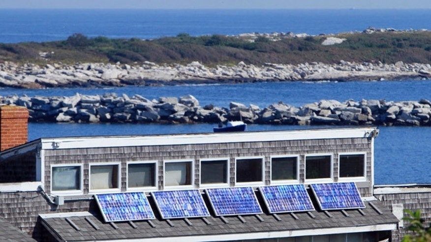 Solar panels are seen at the historic Star Island Family Retreat and Conference Center.