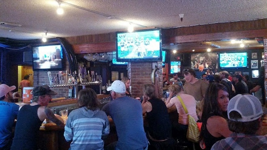 Fans watched football at Ollie's Pub & Grub in Breckenridge. This weekend was Peyton Manning's first game as a Bronco.