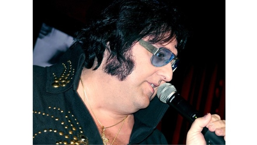 This 2007 photo provided by Caesars Entertainment shows Pete Vallee in his Big Elvis show in Las Vegas.