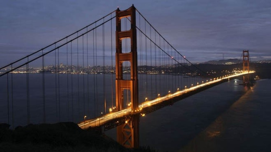Jan. 24, 2012: The Golden Gate Bridge with the San Francisco skyline in the background.