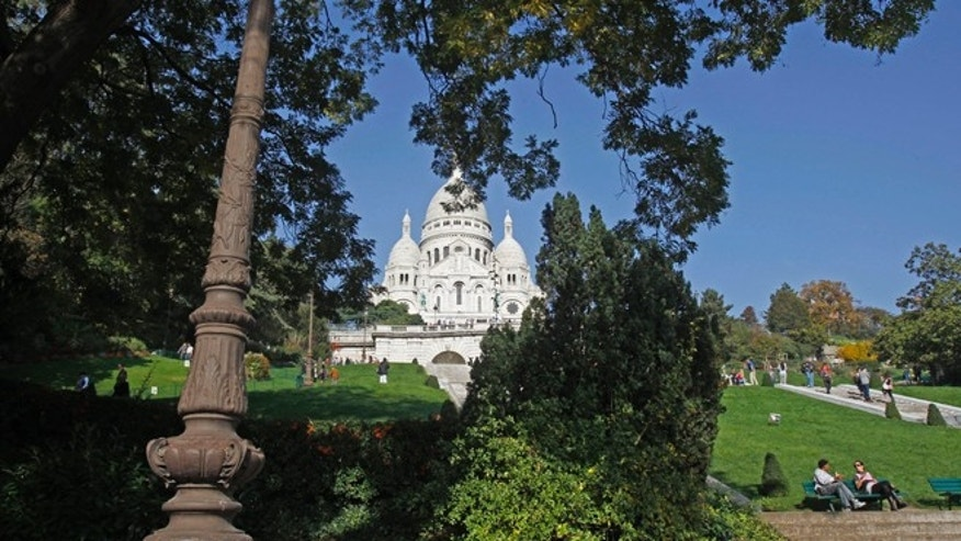 Oct. 23, 2012: The Sacre Coeur basilica in Paris.