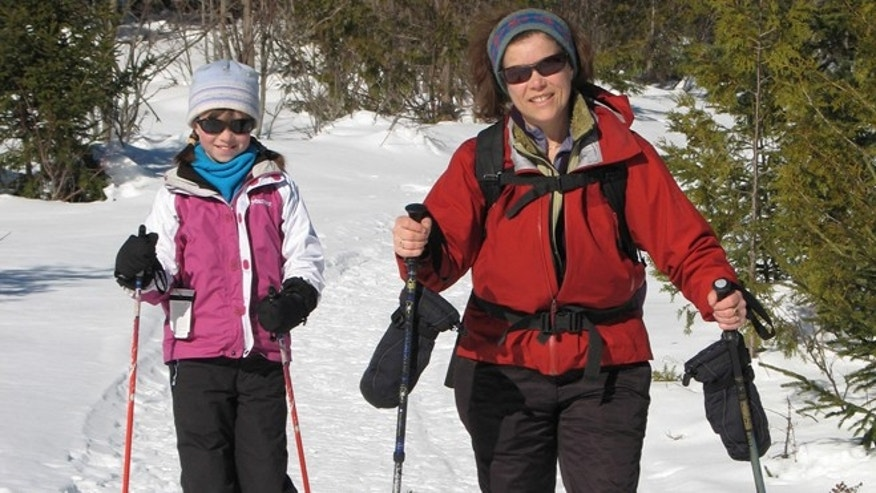 Snowshoeing is the perfect family fun sport.