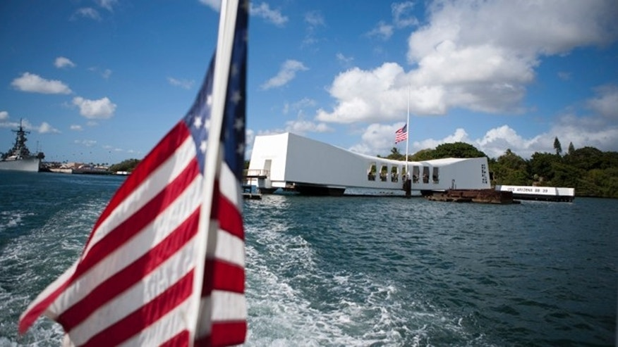 Dec. 7, 2011: The USS Arizona Memorial in Pearl Harbor, Hawaii.