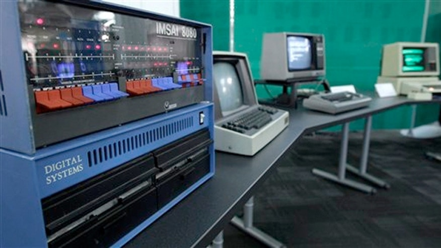 Oct. 30, 2012: An IMSAI 8080 personal computer from 1975 is shown next to other personal computers from the early years of the devices.