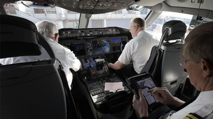 Nov. 4, 2012: The interior of the new Boeing 787 Dreamliner aircraft control room is shown, after the plane arrived at O'Hare international Airport in Chicago, Sunday.