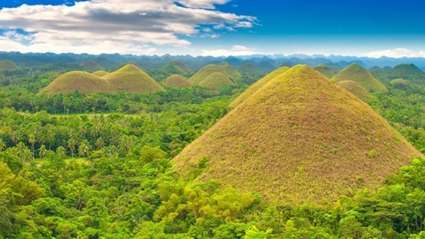 There are 1,200 of the Chocolate Hills on the Philippine Island of Bohol.
