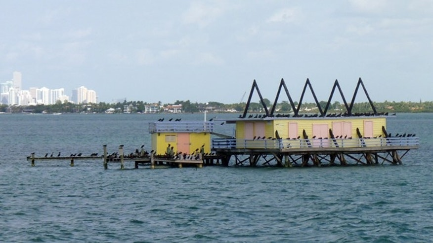 Nov. 11, 2012: One of the seven Stiltsville homes near Miami, Fla.