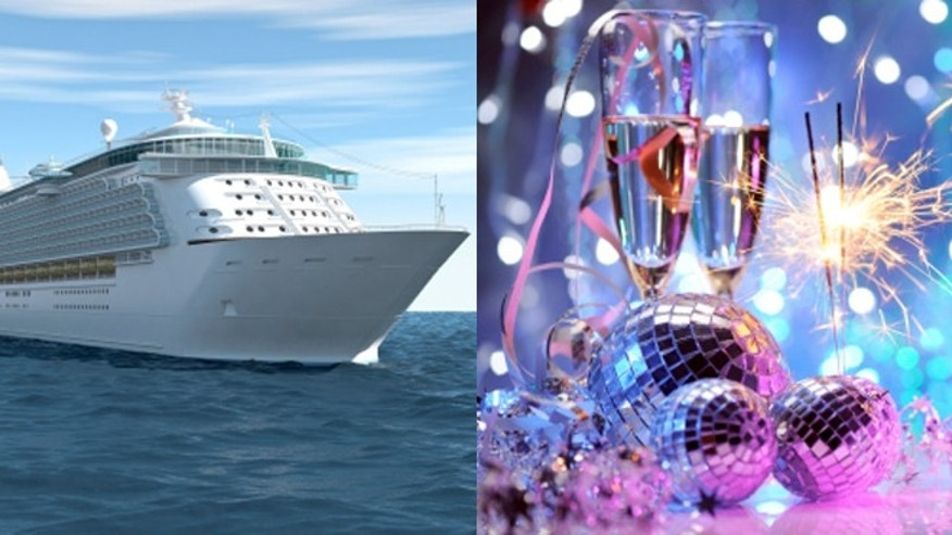 Ringing in the New Year is especially fun on the top deck of a cruise ship.