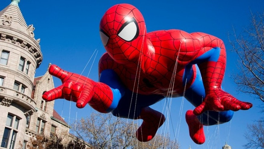 Nov. 24, 2011: The Spider-Man balloon during the Macy's Thanksgiving Day Parade in New York.