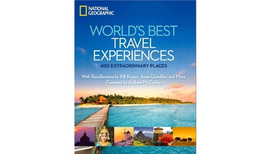 This undated image provided by National Geographic shows the cover of one of the publishers recent books, Worlds Best Travel Experiences.