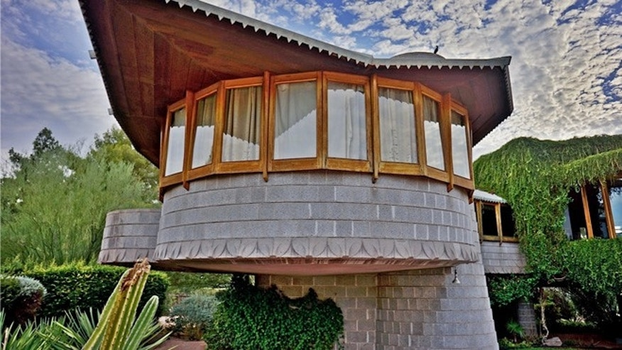 This undated image provided by the Frank Lloyd Wright Building Conservancy shows the home that Wright, the famous architect, built for his son in Phoenix, Ariz..
