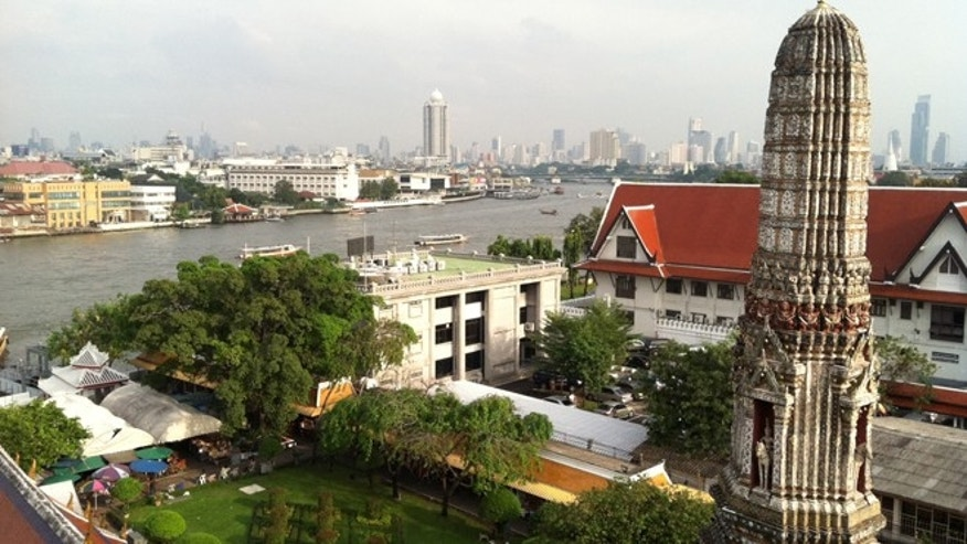 The view of Bangkok from Wat Arun.