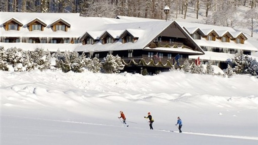 "The Trapp Family Lodge shows cross-country skiers outside the lodge in Stowe, Vt. The lodge is owned by the famous singing family from ""The Sound of Music."""