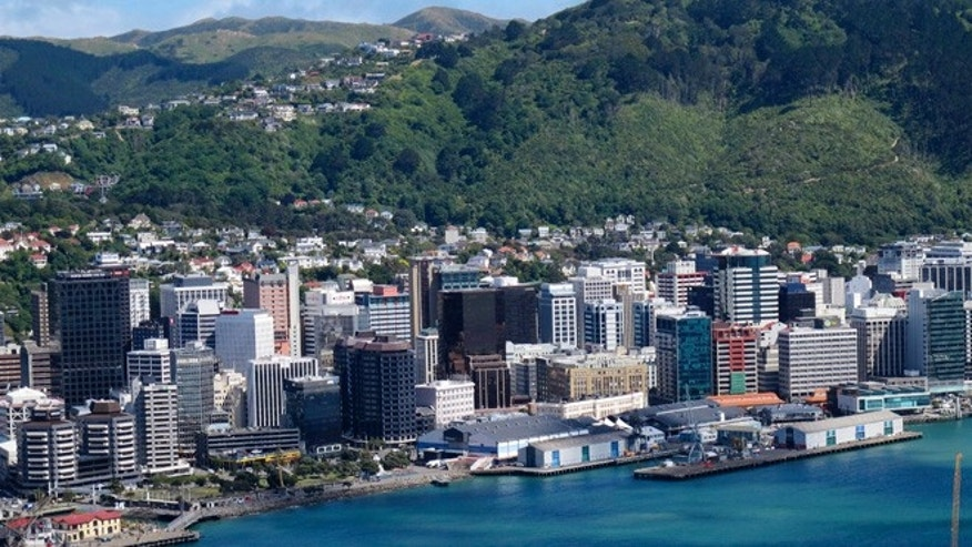 Oct. 26, 2012: The waterfront and city are seen from the vantage point on top of Mount Victoria, Wellington, New Zealand.