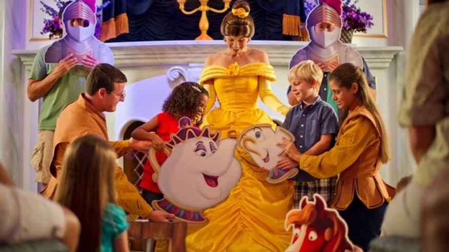 Magic Kingdom guests join Belle and Lumiere in a fun-filled storytelling adventure at Enchanted Tales with Belle.