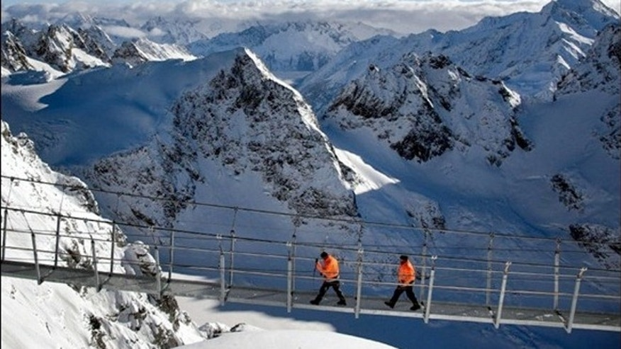The Titlis Cliff Walk is the highest suspension bridge in Europe.