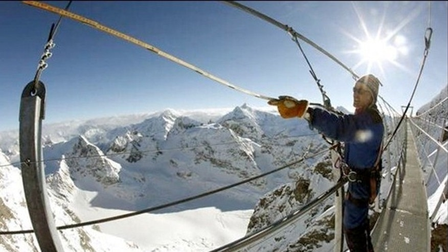 Engineers have spent the past five months building the Titlis Cliff Walk.