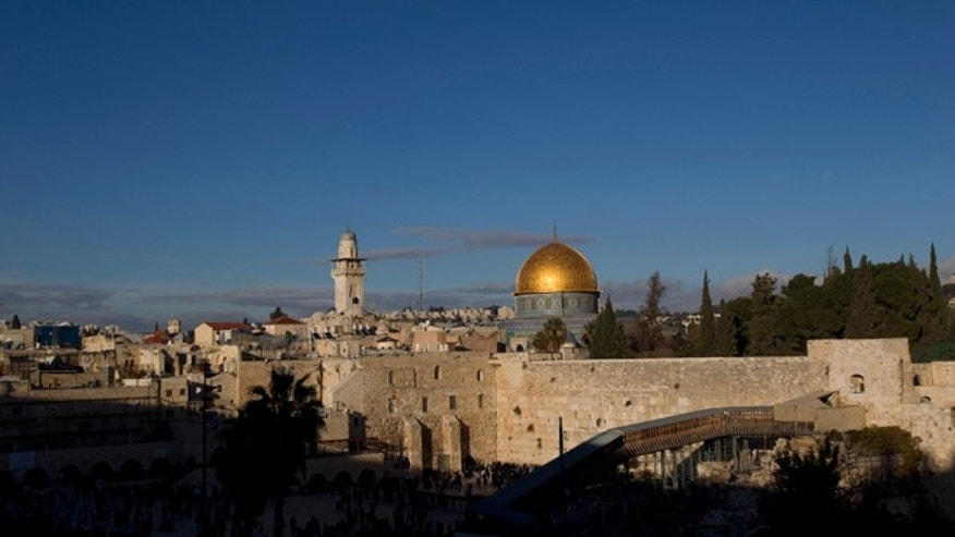 Dec. 13, 2012: The Western Wall and golden Dome of the Rock in Jerusalem's Old City.